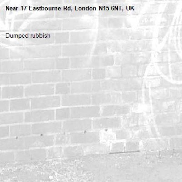 Dumped rubbish -17 Eastbourne Rd, London N15 6NT, UK