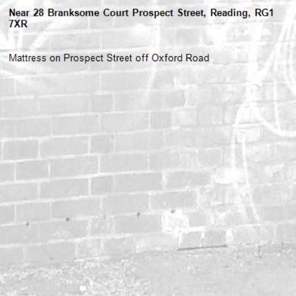 Mattress on Prospect Street off Oxford Road -28 Branksome Court Prospect Street, Reading, RG1 7XR