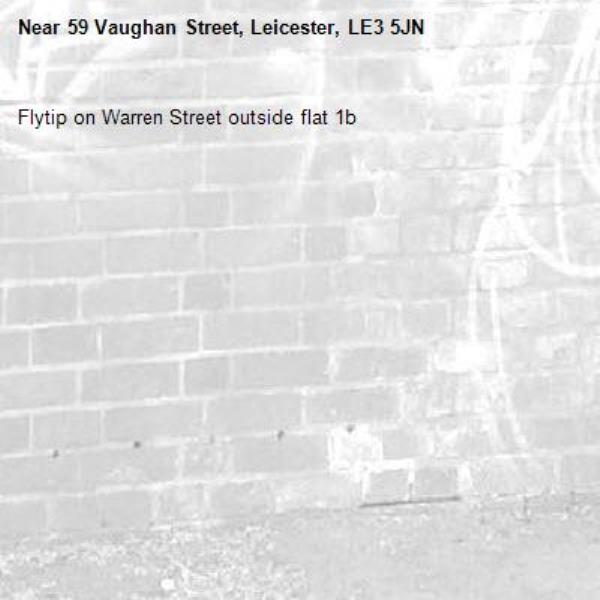 Flytip on Warren Street outside flat 1b -59 Vaughan Street, Leicester, LE3 5JN