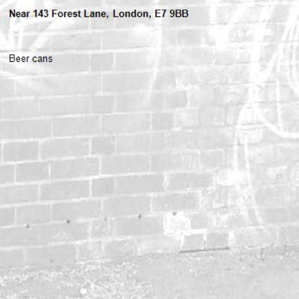 Beer cans-143 Forest Lane, London, E7 9BB