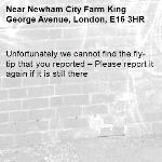 Unfortunately we cannot find the fly-tip that you reported – Please report it again if it is still there-Newham City Farm King George Avenue, London, E16 3HR