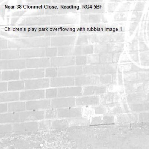 Children's play park overflowing with rubbish image 1-38 Clonmel Close, Reading, RG4 5BF