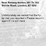 Unfortunately we cannot find the fly-tip that you reported – Please report it again if it is still there-Railway Arches 381 To 383 Strode Road, London, E7 0DU