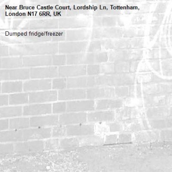Dumped fridge/freezer-Bruce Castle Court, Lordship Ln, Tottenham, London N17 6RR, UK