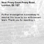 Further investigation is underway to resolve this issue by our enforcement team. Thank you for reporting it.-Priory Court Priory Road, London, E6 1QT
