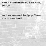 We have removed the fly-tip. Thank you for reporting it.-9 Stamford Road, East Ham, E6 1LP