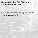 We have removed the fly-tip. Thank you for reporting it.-40 Credon Rd, Plaistow, London E13 9BJ, UK
