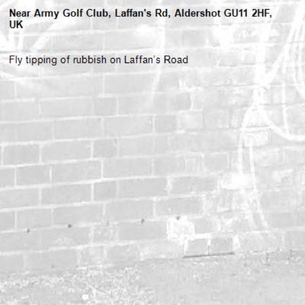 Fly tipping of rubbish on Laffan's Road-Army Golf Club, Laffan's Rd, Aldershot GU11 2HF, UK