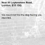 We could not find the dog fouling you reported.-60 Leytonstone Road, London, E15 1SQ