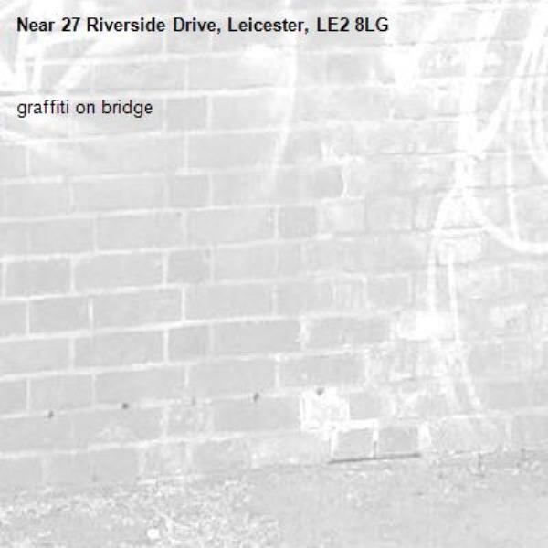 graffiti on bridge-27 Riverside Drive, Leicester, LE2 8LG