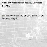 We have swept the street. Thank you for reporting it.-69 Wellington Road, London, E7 9BU