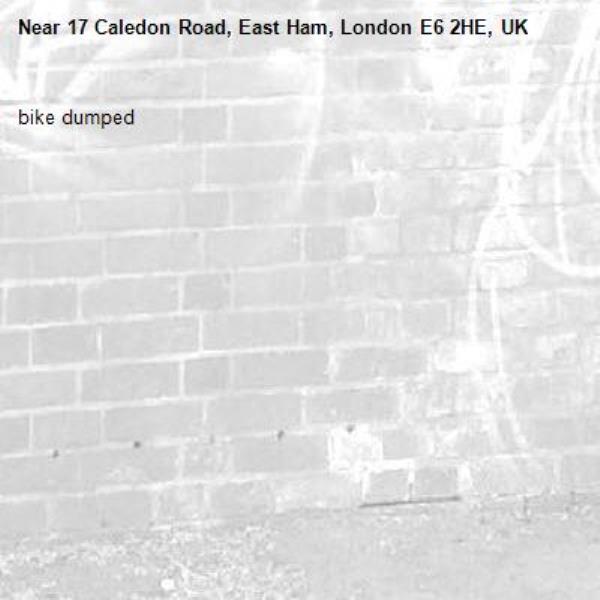 bike dumped-17 Caledon Road, East Ham, London E6 2HE, UK