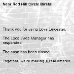 Thank you for using Love Leicester.