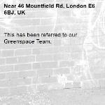 This has been referred to our Greenspace Team.-46 Mountfield Rd, London E6 6BJ, UK