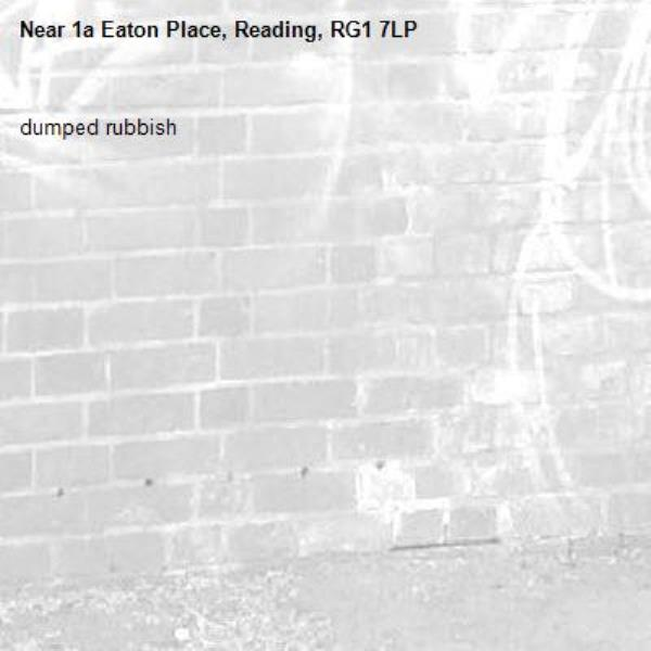 dumped rubbish -1a Eaton Place, Reading, RG1 7LP