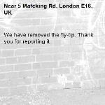 We have removed the fly-tip. Thank you for reporting it.-5 Mafeking Rd, London E16, UK