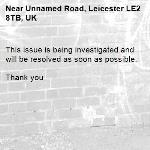 This issue is being investigated and will be resolved as soon as possible.   Thank you -Unnamed Road, Leicester LE2 8TB, UK