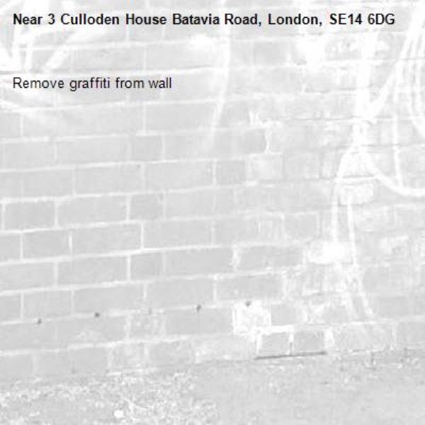 Remove graffiti from wall-3 Culloden House Batavia Road, London, SE14 6DG