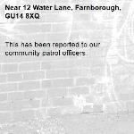 This has been reported to our community patrol officers. -12 Water Lane, Farnborough, GU14 8XQ