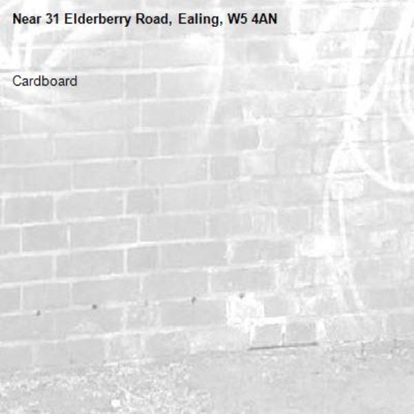 Cardboard -31 Elderberry Road, Ealing, W5 4AN