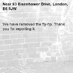 We have removed the fly-tip. Thank you for reporting it.-83 Eisenhower Drive, London, E6 5JW