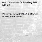 Thank you for your report a letter will be sent to the owner -1 Littlecote Dr, Reading RG1 6JD, UK