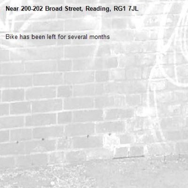 Bike has been left for several months-200-202 Broad Street, Reading, RG1 7JL