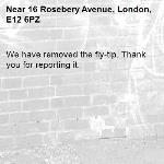 We have removed the fly-tip. Thank you for reporting it.-16 Rosebery Avenue, London, E12 6PZ