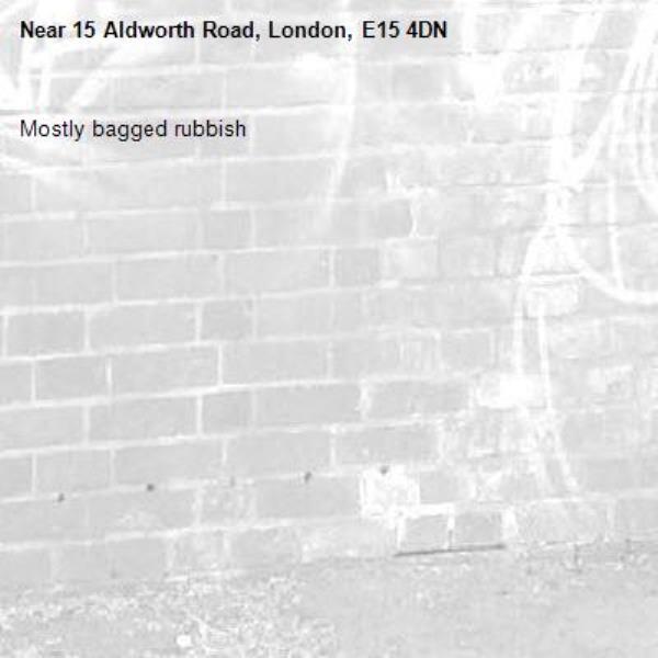 Mostly bagged rubbish -15 Aldworth Road, London, E15 4DN