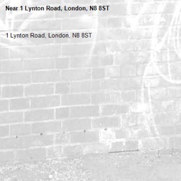 1 Lynton Road, London, N8 8ST-1 Lynton Road, London, N8 8ST