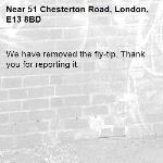 We have removed the fly-tip. Thank you for reporting it.-51 Chesterton Road, London, E13 8BD
