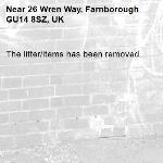 The litter/items has been removed.-26 Wren Way, Farnborough GU14 8SZ, UK