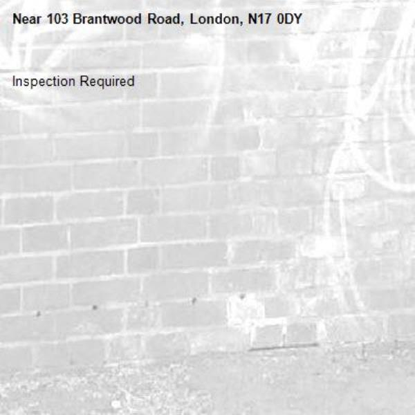 Inspection Required-103 Brantwood Road, London, N17 0DY