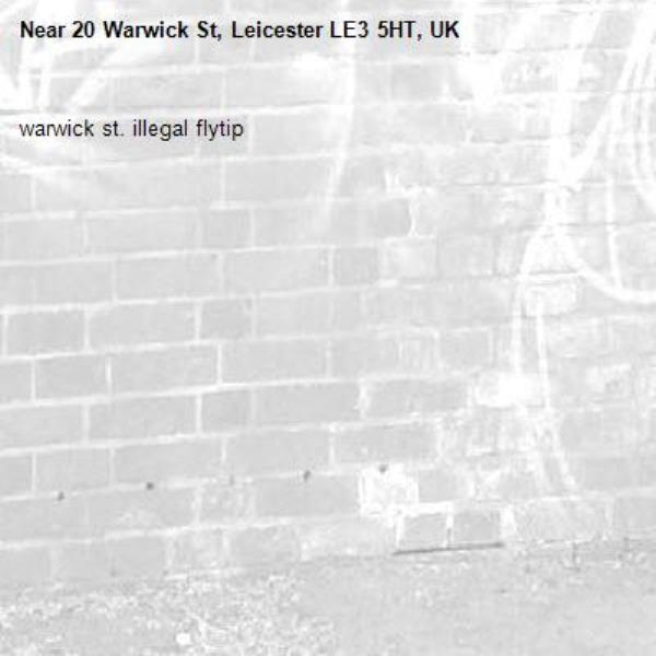15 warwick st. illegal flytip-16 Tewkesbury St, Leicester LE3 5HT, UK