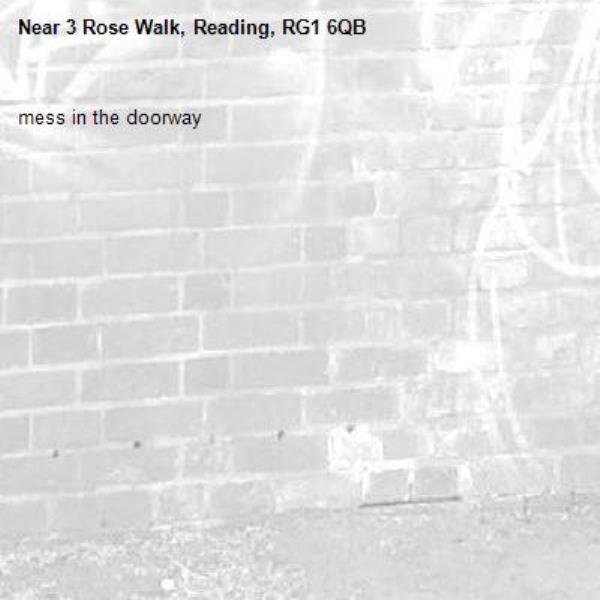 mess in the doorway -3 Rose Walk, Reading, RG1 6QB