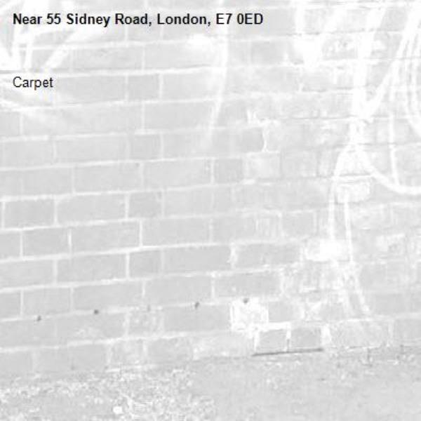 Carpet-55 Sidney Road, London, E7 0ED