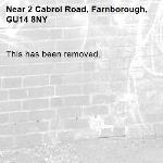 This has been removed. -2 Cabrol Road, Farnborough, GU14 8NY
