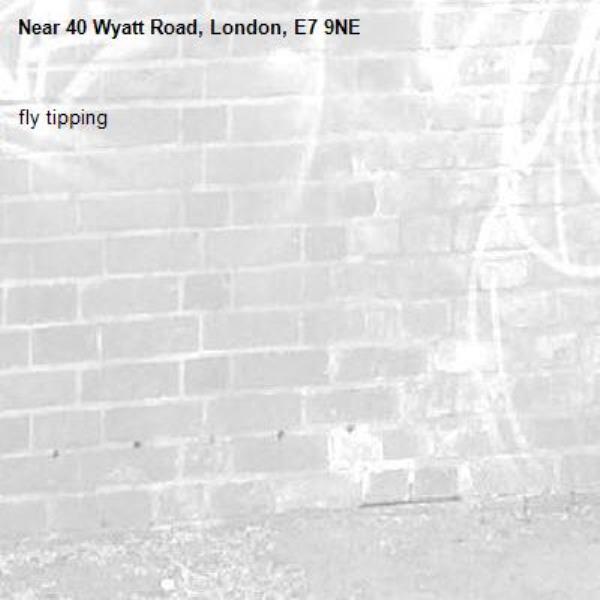 fly tipping -40 Wyatt Road, London, E7 9NE