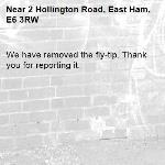 We have removed the fly-tip. Thank you for reporting it.-2 Hollington Road, East Ham, E6 3RW
