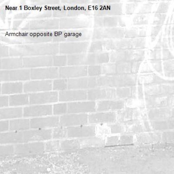 Armchair opposite BP garage -1 Boxley Street, London, E16 2AN