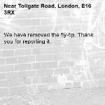 We have removed the fly-tip. Thank you for reporting it.-Tollgate Road, London, E16 3RX