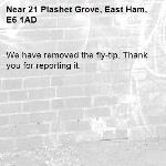 We have removed the fly-tip. Thank you for reporting it.-21 Plashet Grove, East Ham, E6 1AD
