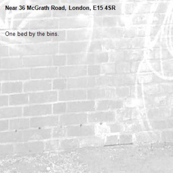 One bed by the bins.-36 McGrath Road, London, E15 4SR
