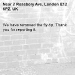 We have removed the fly-tip. Thank you for reporting it.-2 Rosebery Ave, London E12 6PZ, UK