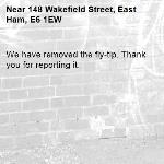 We have removed the fly-tip. Thank you for reporting it.-148 Wakefield Street, East Ham, E6 1EW