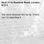 We have removed the fly-tip. Thank you for reporting it.-931b Romford Road, London, E12 5