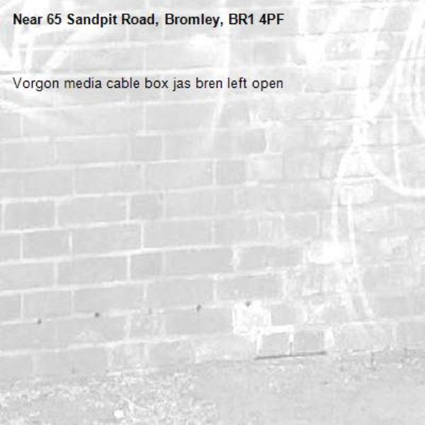 Vorgon media cable box jas bren left open-65 Sandpit Road, Bromley, BR1 4PF