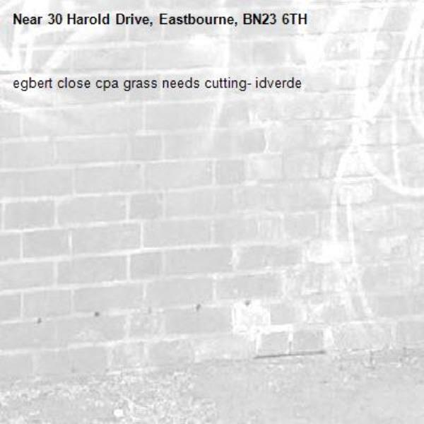 egbert close cpa grass needs cutting- idverde-30 Harold Drive, Eastbourne, BN23 6TH