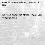 We have swept the street. Thank you for reporting it.-17 Odessa Road, London, E7 9BY