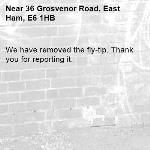 We have removed the fly-tip. Thank you for reporting it.-36 Grosvenor Road, East Ham, E6 1HB